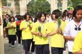 18 ก.พ. 2562 นักเรียนชั้น ม.1 ร่วมกิจกรรมเวียนเทียนเนื่องในวันมาฆบูชา ณ วัดบ้านสำโรง