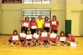 เหรียญทองทีมแฮนด์บอลหญิ่งรุ่น 18 ปี กีฬา สพม.28 ปีการศึกษา 2559
